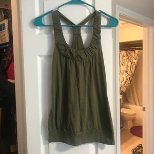 Ruffled Green Tank